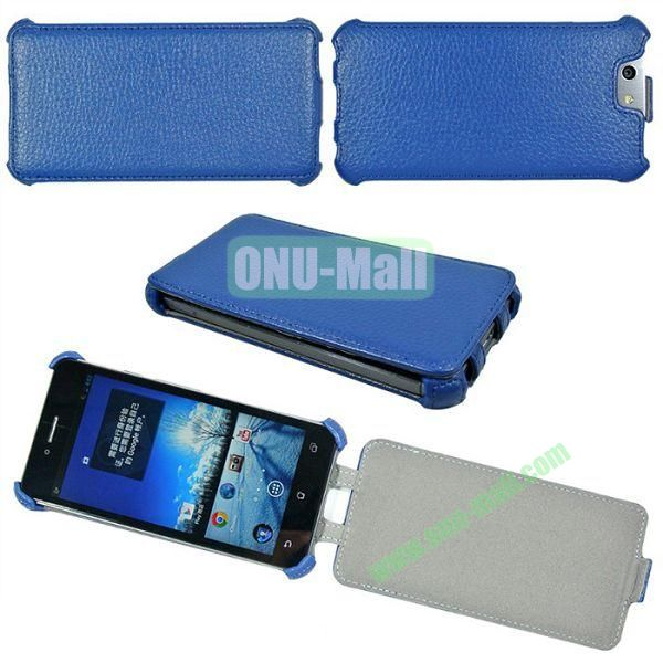 Litchi Lines Flip Leather Case Cover for ASUS PadFone Infinity (PadFone 3)(Blue)