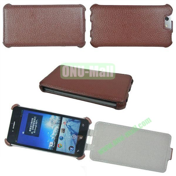 Litchi Lines Flip Leather Case Cover for ASUS PadFone Infinity (PadFone 3)(Brown)