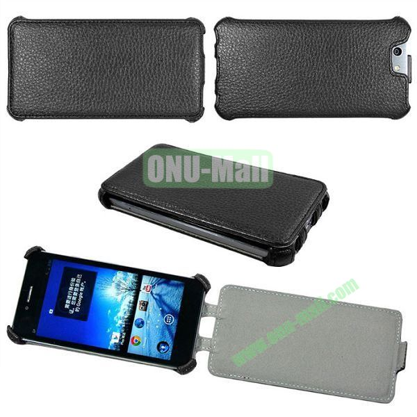 Litchi Lines Flip Leather Case Cover for ASUS PadFone Infinity (PadFone 3)(Black)