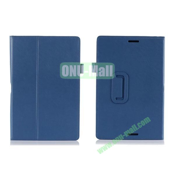High Quality PU Leather Cover for Asus Transfomer Book T100TA with Armband & Holder & Credit Card Slots (Blue)