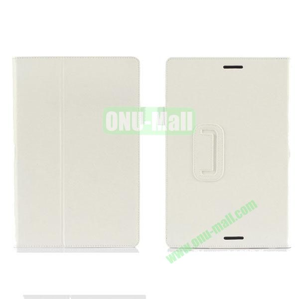 High Quality PU Leather Cover for Asus Transfomer Book T100TA with Armband & Holder & Credit Card Slots (White)