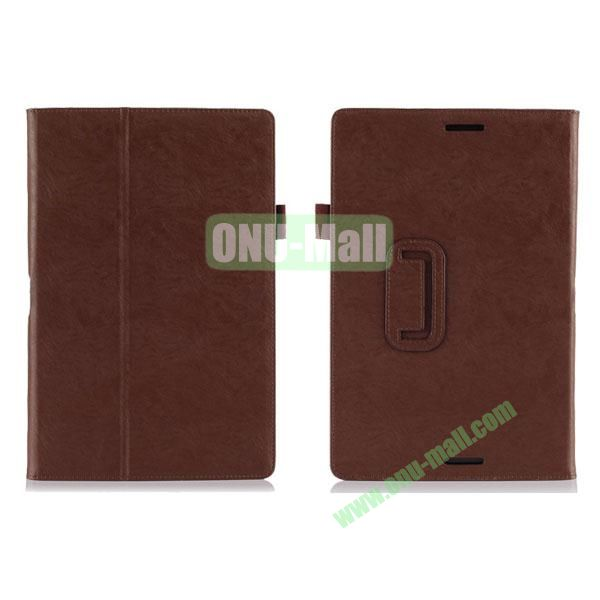 High Quality PU Leather Cover for Asus Transfomer Book T100TA with Armband & Holder & Credit Card Slots (Brown)