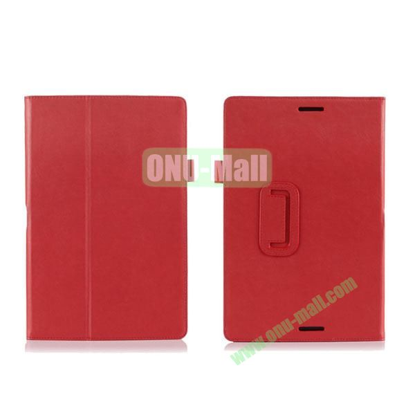 High Quality PU Leather Cover for Asus Transfomer Book T100TA with Armband & Holder & Credit Card Slots (Red)