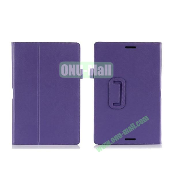 High Quality PU Leather Cover for Asus Transfomer Book T100TA with Armband & Holder & Credit Card Slots (Purple)