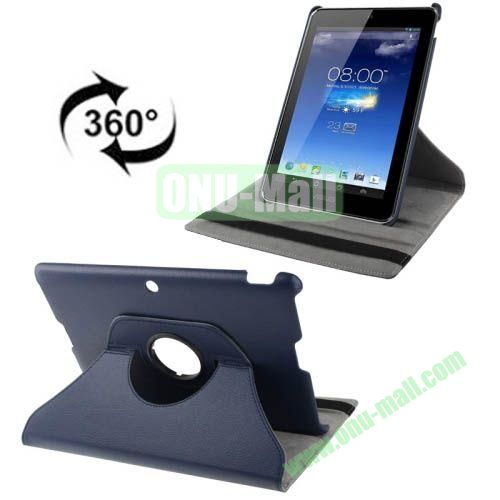 360 Degrees Rotatable Leather Case for Asus MeMO Pad FHD 10 ME302C (Dark Blue)