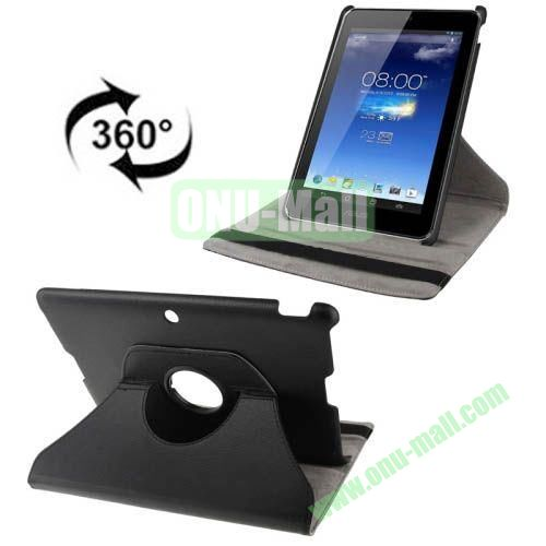360 Degrees Rotatable Leather Case for Asus MeMO Pad FHD 10 ME302C (Black)