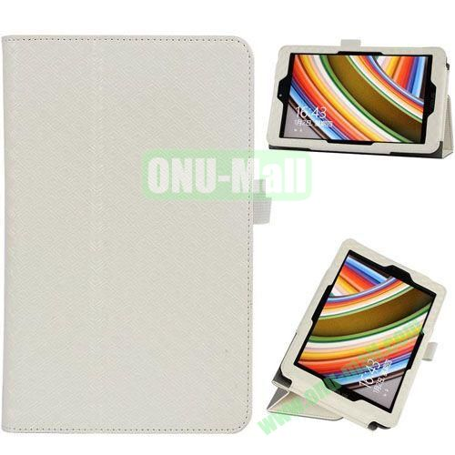 2014 New Arrival Gird Pattern Leather Case for Vivo Tab Note 8 M80TA with Stand (White)