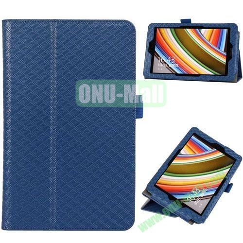 2014 New Arrival Gird Pattern Leather Case for Vivo Tab Note 8 M80TA with Stand (Blue)