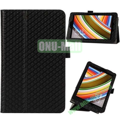 2014 New Arrival Gird Pattern Leather Case for Vivo Tab Note 8 M80TA with Stand (Black)