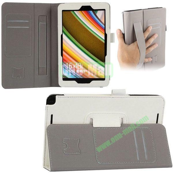 New Arrival Leather Case for Asus Vivo Tab Note 8 M80TA with Armband and Card Slots (White)