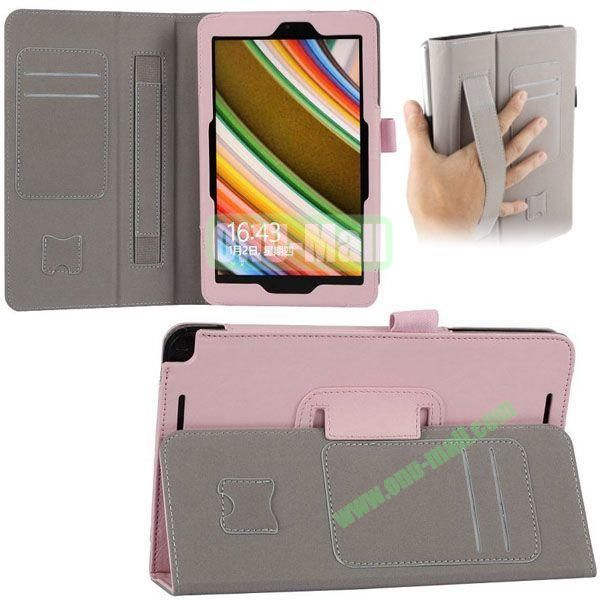 New Arrival Leather Case for Asus Vivo Tab Note 8 M80TA with Armband and Card Slots (Pink)