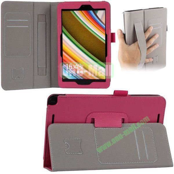 New Arrival Leather Case for Asus Vivo Tab Note 8 M80TA with Armband and Card Slots (Rose)
