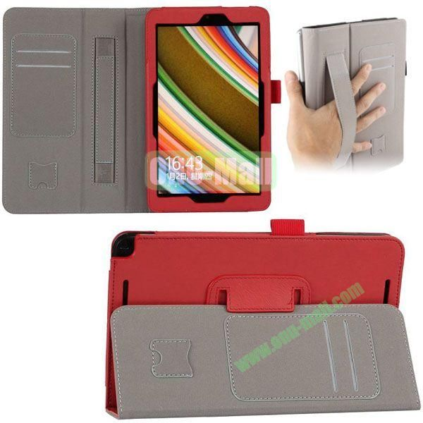 New Arrival Leather Case for Asus Vivo Tab Note 8 M80TA with Armband and Card Slots (Red)