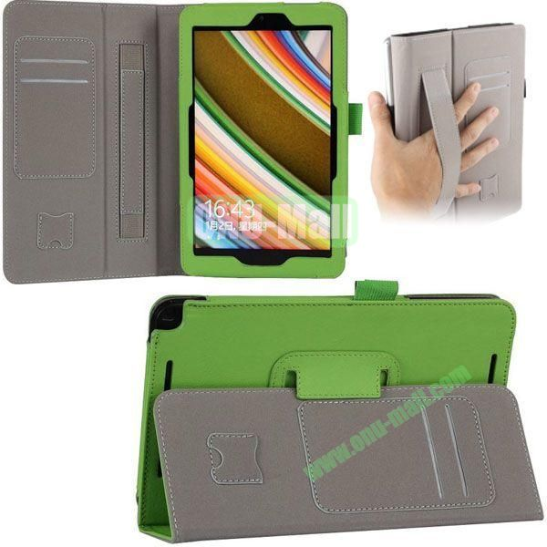 New Arrival Leather Case for Asus Vivo Tab Note 8 M80TA with Armband and Card Slots (Green)