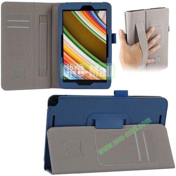 New Arrival Leather Case for Asus Vivo Tab Note 8 M80TA with Armband and Card Slots (Blue)