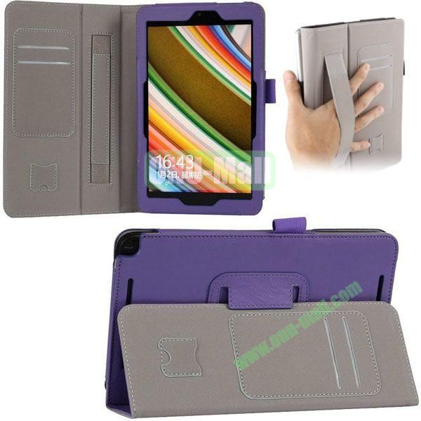 New Arrival Leather Case for Asus Vivo Tab Note 8 M80TA with Armband and Card Slots (Purple)