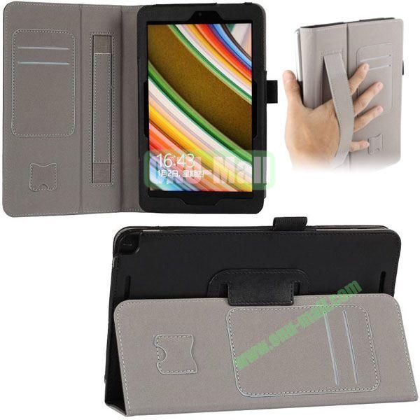 New Arrival Leather Case for Asus Vivo Tab Note 8 M80TA with Armband and Card Slots (Black)