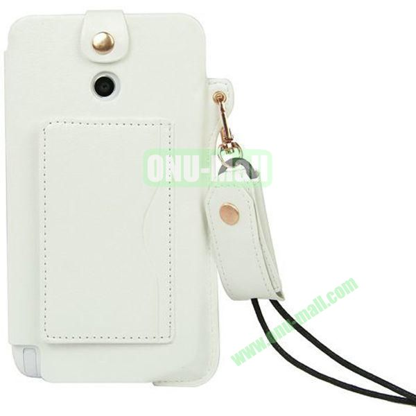 Litchi Texture Leather Pouch Bag for Asus Fonepad Note 6ME560CG with Pocket and Lanyard (White)