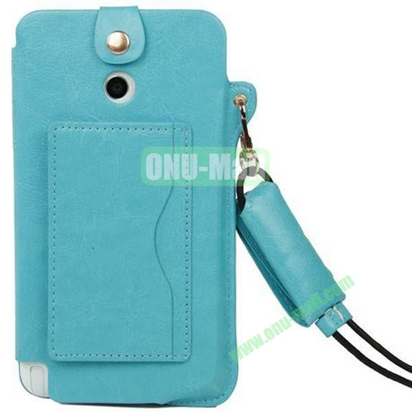 Litchi Texture Leather Pouch Bag for Asus Fonepad Note 6ME560CG with Pocket and Lanyard (Blue)