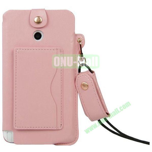 Litchi Texture Leather Pouch Bag for Asus Fonepad Note 6ME560CG with Pocket and Lanyard (Pink)