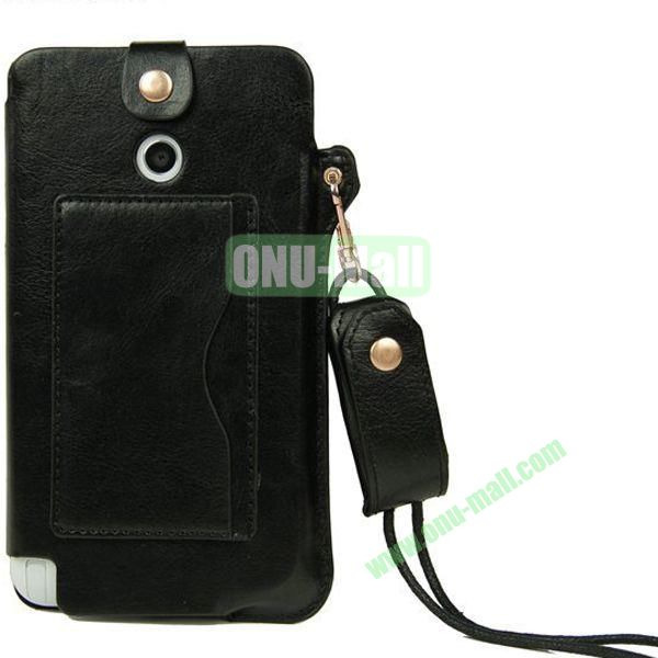 Litchi Texture Leather Pouch Bag for Asus Fonepad Note 6ME560CG with Pocket and Lanyard (Black)