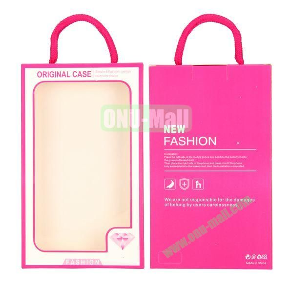New Fashion Transparent PVC Cellphone Package Box with Strap (Rose)