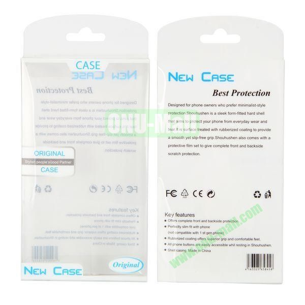 7.8x13.8x1.6cm New Package Case Transparent PVC Cellphone Packing Box (White)