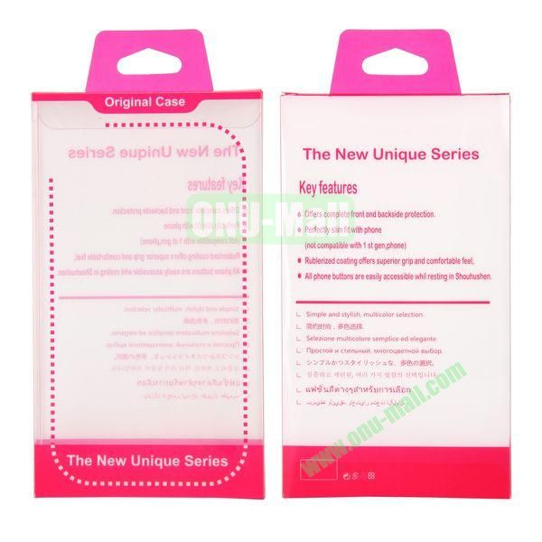 8.8x15.5x2cm Package Case Transparent PVC Cellphone Packing Box (Rose)