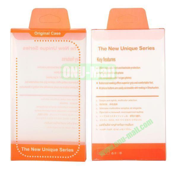 8.8x15.5x2cm Package Case Transparent PVC Cellphone Packing Box (Orange)