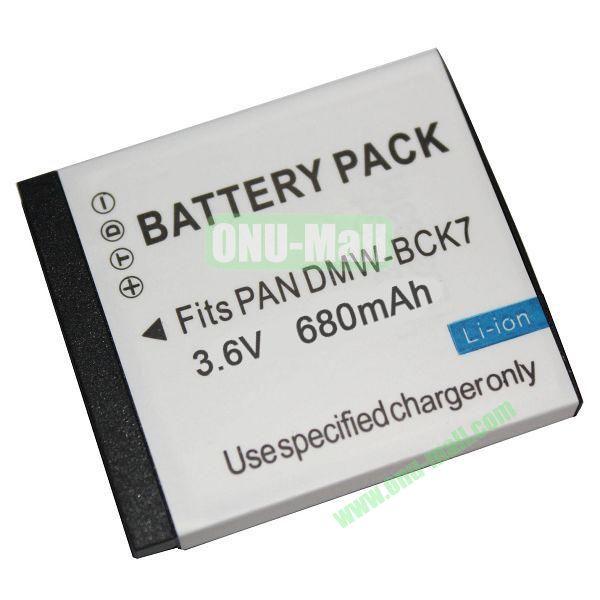 3.6V 680mAh Li-ion Camera Battery Pack for Panasonic DMW-BCK7