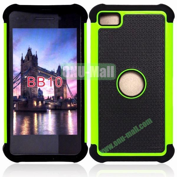 Factory Price Defender Case 3 in One Protective PC + Silicone Front and Back Cover for BlackBerry Z10(Green)