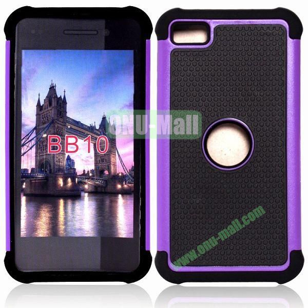 Factory Price Defender Cover 3 in One Protective PC + Silicone Front and Back Cover for BlackBerry Z10(Purple)