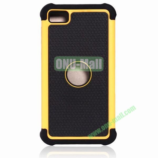Factory Price Defender Cover 3 in One Protective PC + Silicone Front and Back Cover for BlackBerry Z10(Yellow)