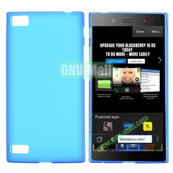 Solid Color TPU Back Cover Case for BlackBerry Z3 (Blue)