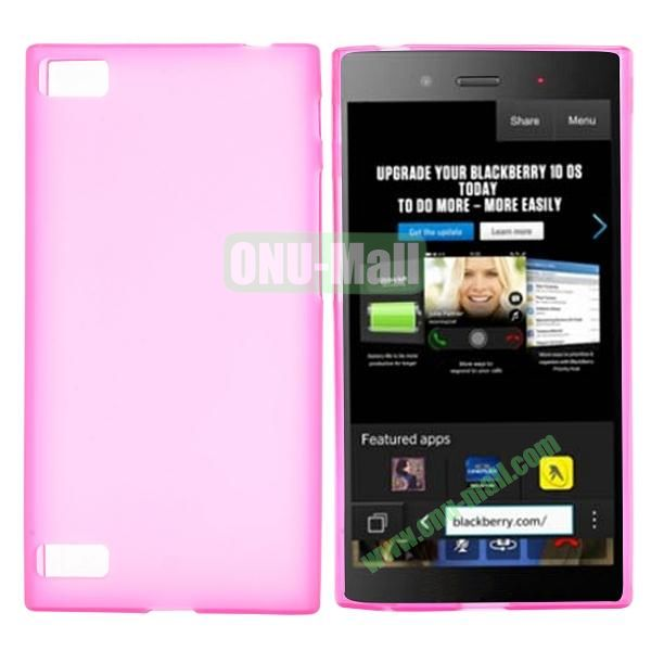 Solid Color TPU Back Cover Case for BlackBerry Z3 (Pink)