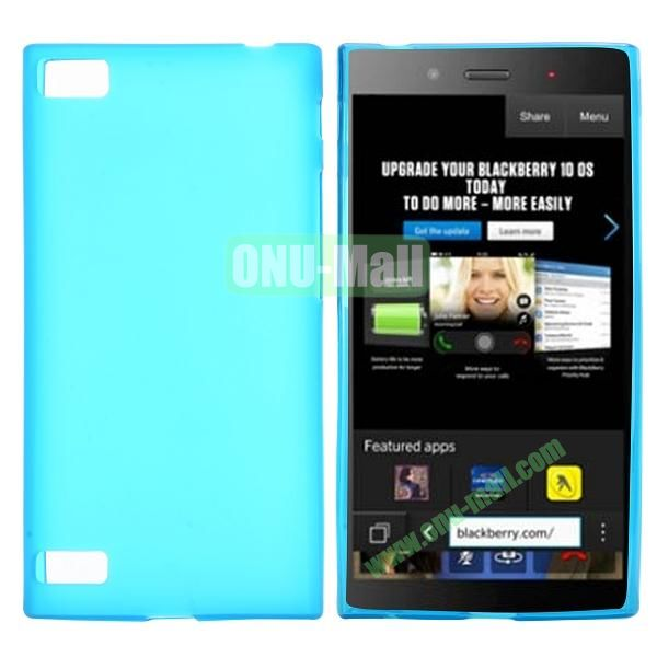 Solid Color TPU Back Cover Case for BlackBerry Z3 (Baby Blue)