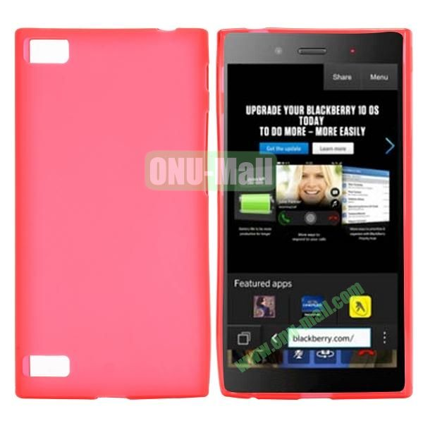 Solid Color TPU Back Cover Case for BlackBerry Z3 (Red)