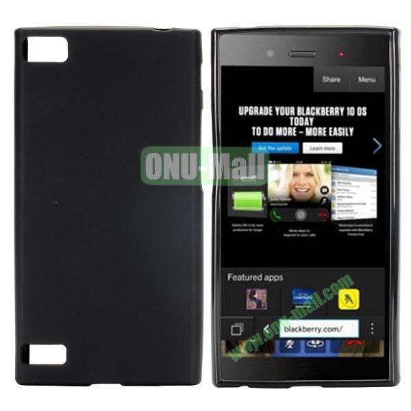 Solid Color TPU Back Cover Case for BlackBerry Z3 (Black)