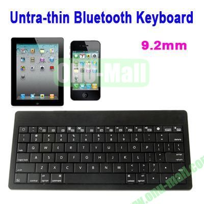 Mini Untra-thin Bluetooth Keyboard for iPad 5iPhone 5CiPhone 4 & 4S  iPhone 3G S  the New iPad (iPad 3)  iPad  App system Laptop or Desktop(Black)