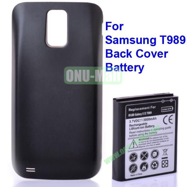 3.7V 3800mAh Rechargerble Lithium-ion Battery with Back Cover for Samsung Galaxy S2  T989