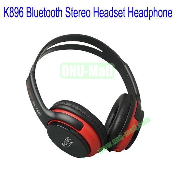 High Definition K896 Bluetooth Stereo Headset Headphone for iPhone 5,Galaxy S4,BlackBerry Z10,HTC M7,Mobile Phone etc(Black)