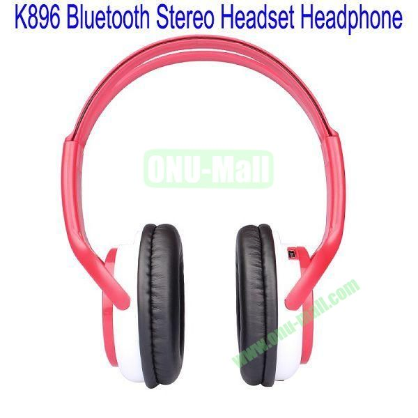 High Definition K896 Bluetooth Stereo Headset Headphone for iPhone 5,Galaxy S4,BlackBerry Z10,HTC M7,Mobile Phone etc(Pink)
