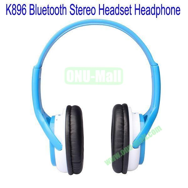 High Definition K896 Bluetooth Stereo Headset Headphone for iPhone 5,Galaxy S4,BlackBerry Z10,HTC M7,Mobile Phone etc(Blue)