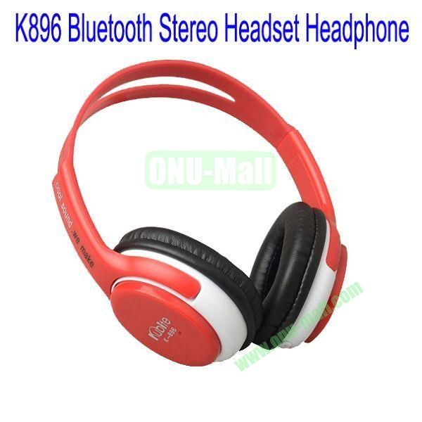 High Definition K896 Bluetooth Stereo Headset Headphone for iPhone 5,Galaxy S4,BlackBerry Z10,HTC M7,Mobile Phone etc(Red)