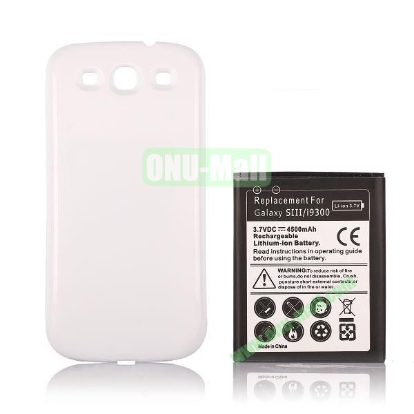 3.7V 4500mAh Replacement Rechargeable Li-ion Battery + Back Case for Samsung Galaxy SIII  i9300 (Black)