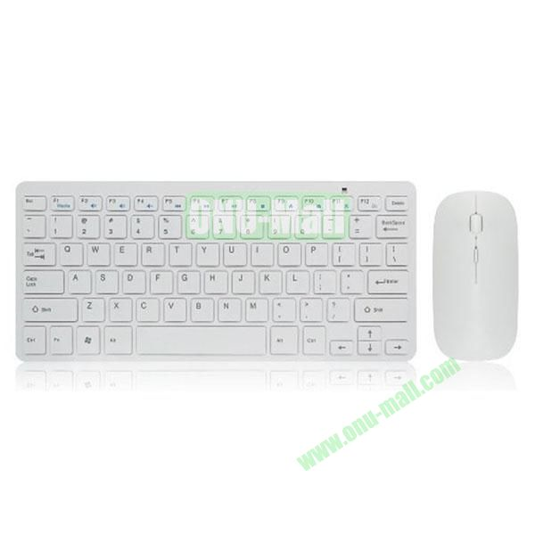 New Arrival Ultra-thin Wireless Keyboard and Mouse for Computers and Tablets with USB Port