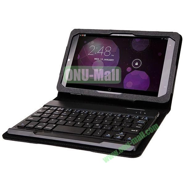 Cross Texture Detachable Bluetooth Keyboard for Dell Venue 8 Venue 8 Pro with Leather Case and Stand