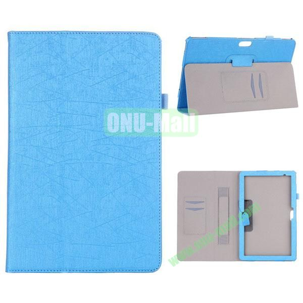 Fashion Flip Stand Leather Case with Card Slots and Armband Belt for Dell Venue 11 Pro (Blue)