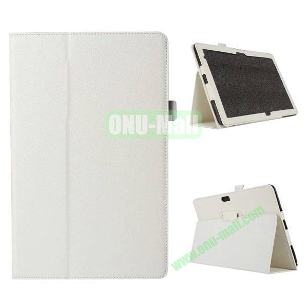 Litchi Texture Flip Stand Leather Case for Dell Venue 11 Pro (White)