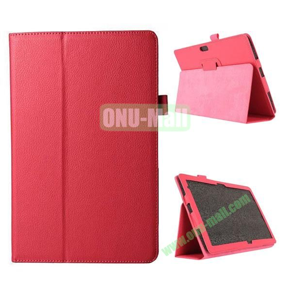 Litchi Texture Flip Stand Leather Case for Dell Venue 11 Pro (Rose)